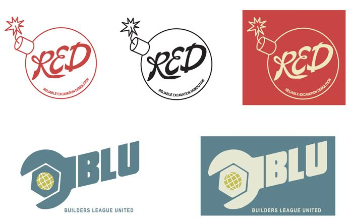 Red and BLU team logos - TF2 by CartmanPT