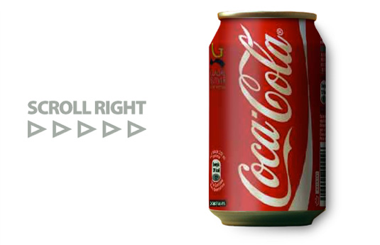 Scrolling Coke Can