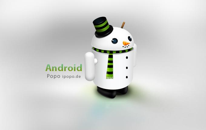 White Android Icon by impopo