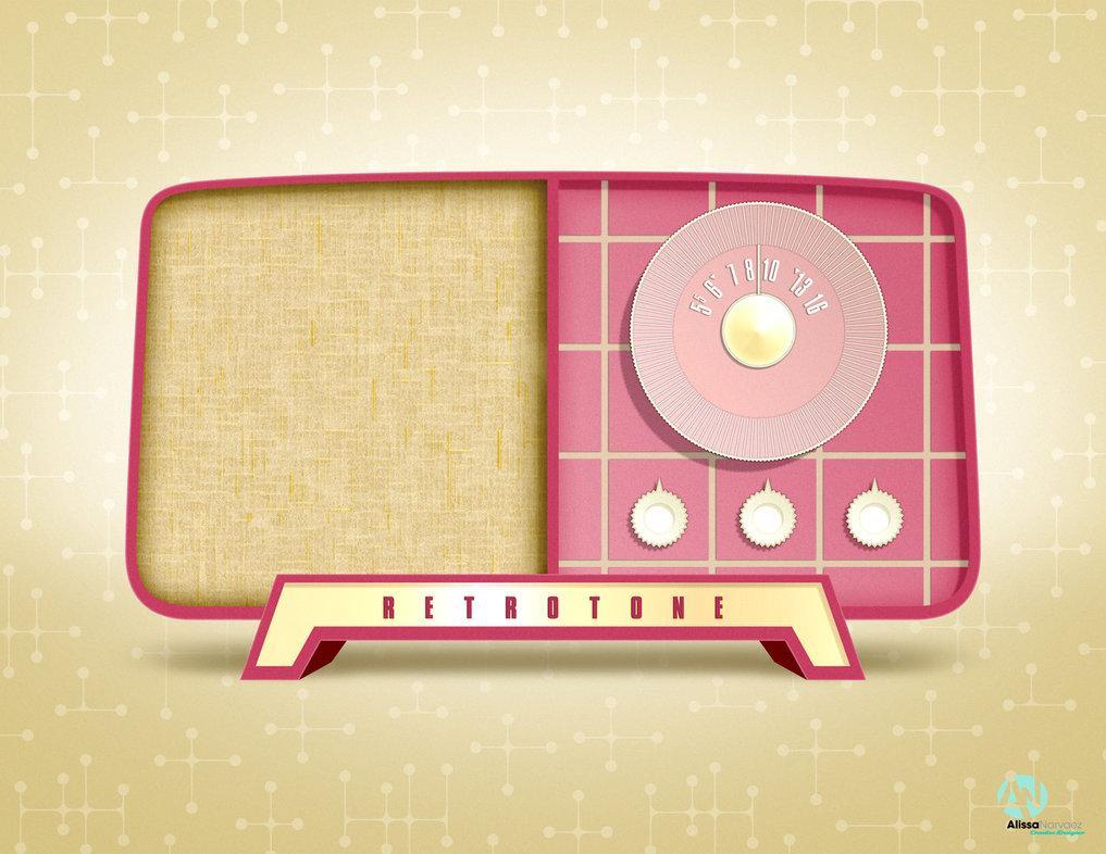 Antique Radio Vector Photoshop Illustration by AlissaMNarvaez