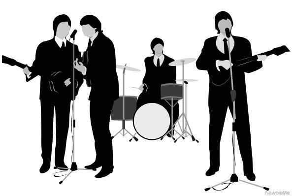 Beatles Silhouette by NewbieMe