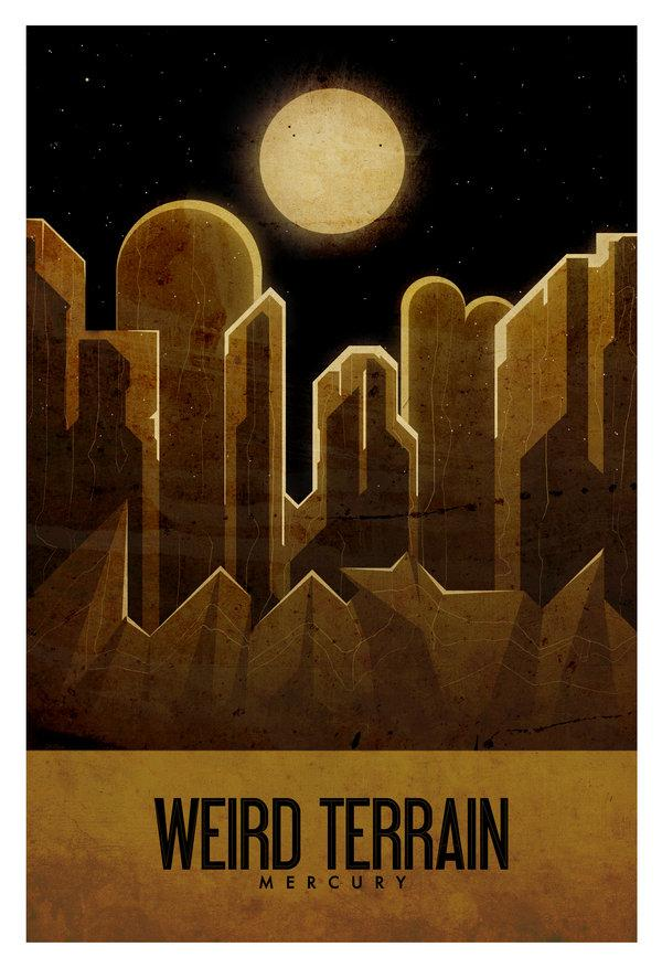 Weird Terrain - Mercury - Travel Poster by ron-guyatt