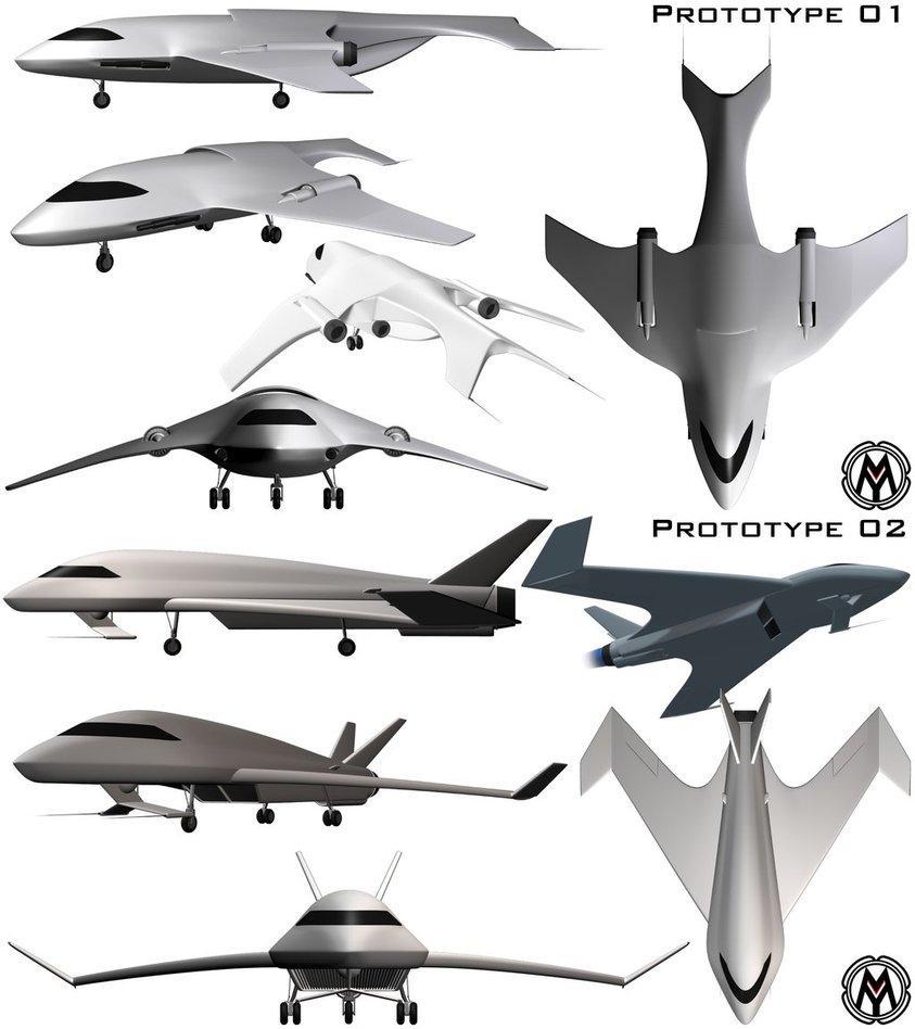 Spacecraft Prototypes by MikomDude