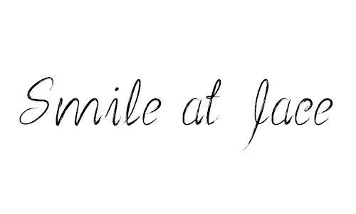 Smile at face