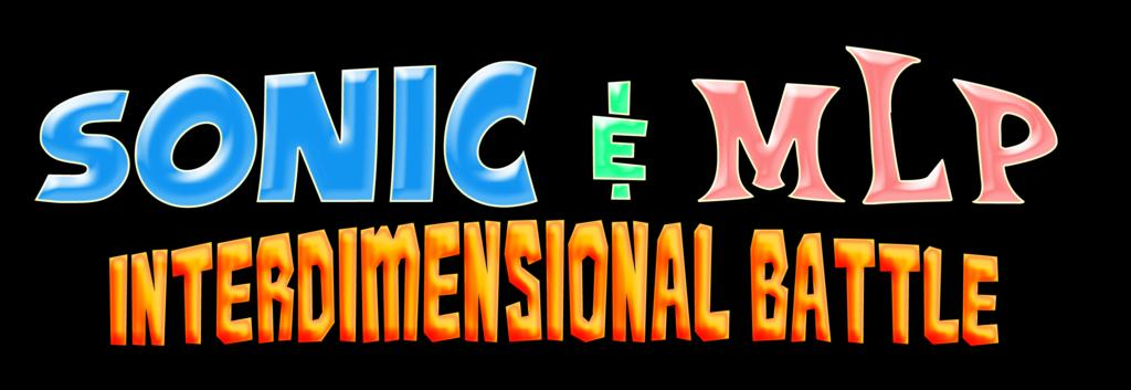 Sonic & MLP - Interdimensional Battle Logo by KingAsylus91
