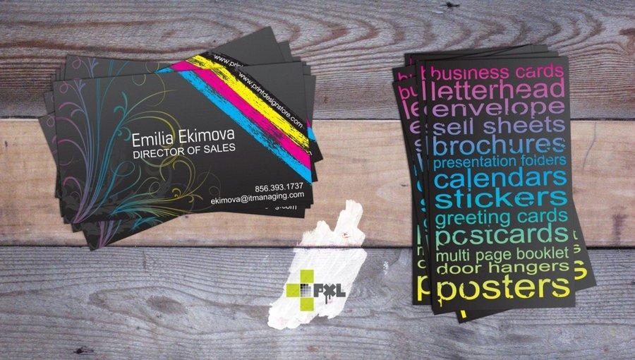 cmyk business card by plus1pxl