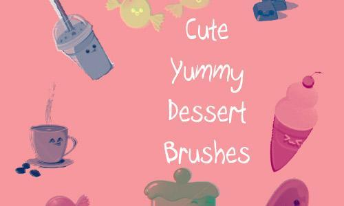 Cute Yummy Dessert Brushes
