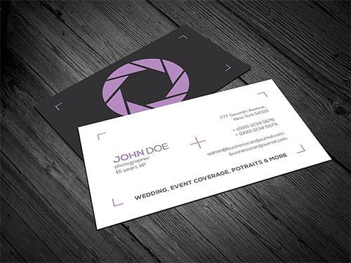Clean & Minimal Photography Business Card