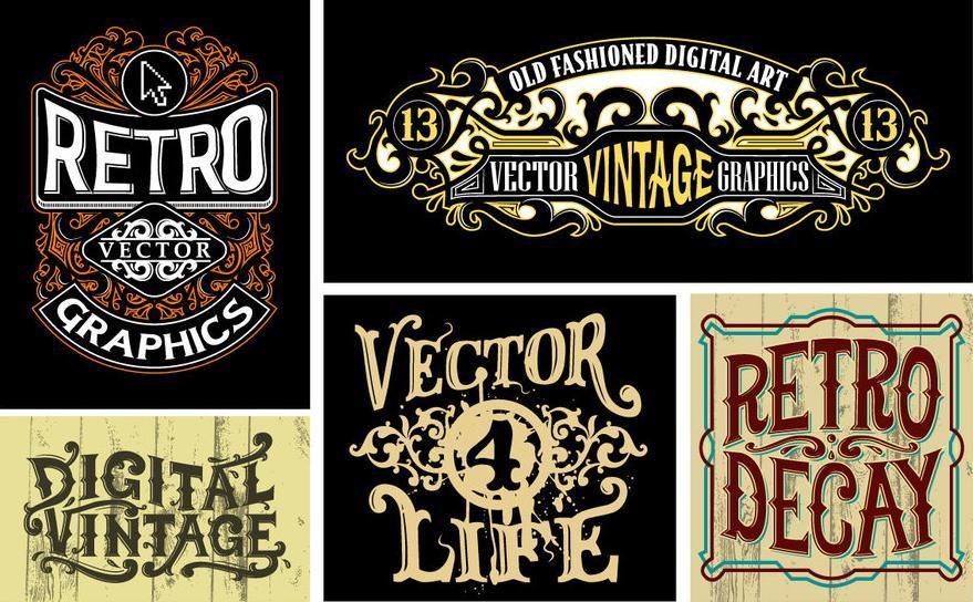 Vintage logos by roberlan