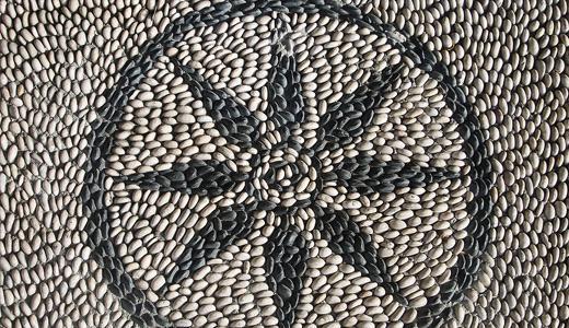 Rhodos mosaic 01 by Lu Dabrowski
